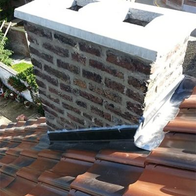 Rejointoyage, dalle et finition contour cheminée