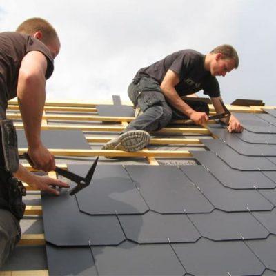 Réalisation toiture en ardoise avec charpente | Toiture Deldime